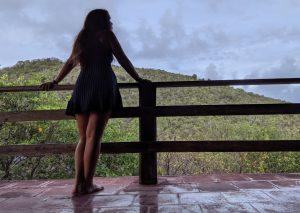 A woman overlooks Bequia