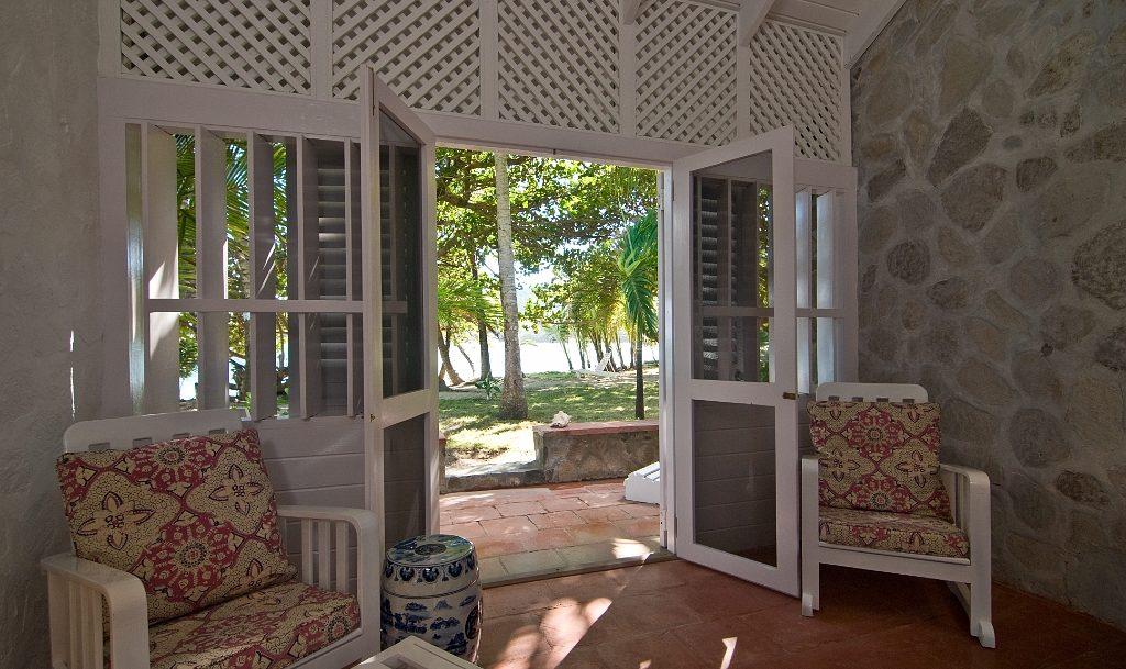 Mustique Room Entrance doors